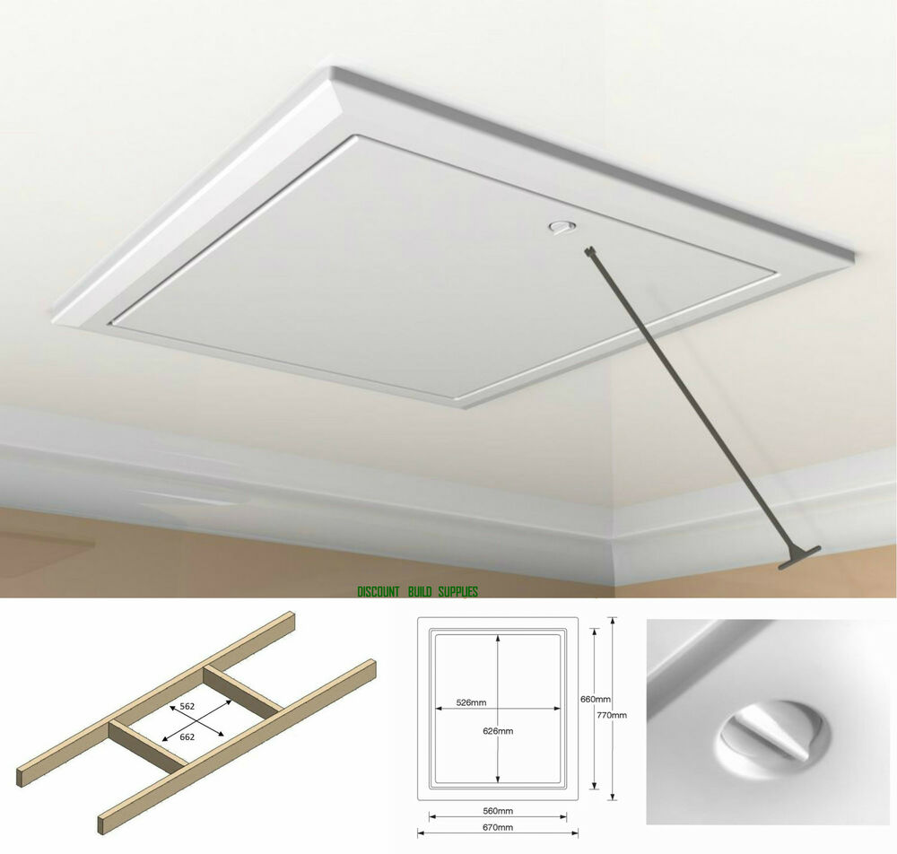 Timloc 1169 White Insulated Drop Down Hinged Loft Access