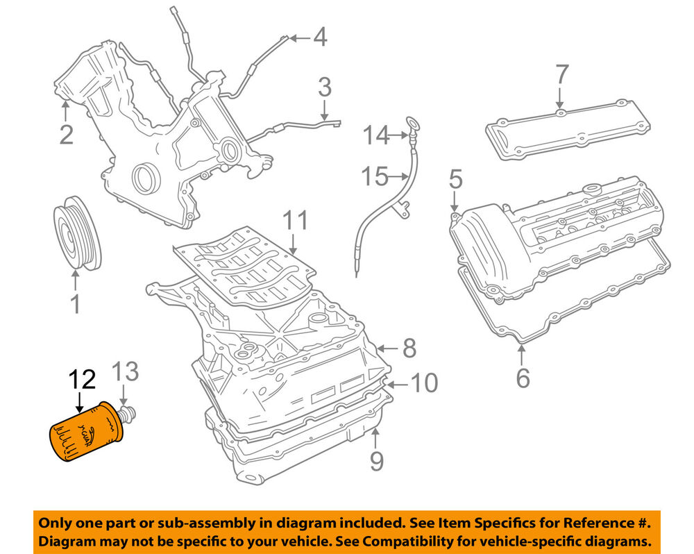 jaguar oem 4 0 litre v8 xj8 xk8 s type engine oil filter jaguar xk8 engine parts diagram #1