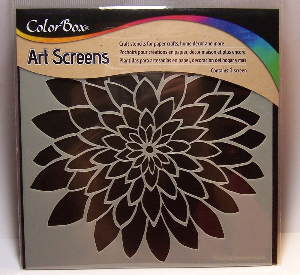 Bloom flower layering stencil art screen for paper crafts for Arts and crafts stencils craftsman