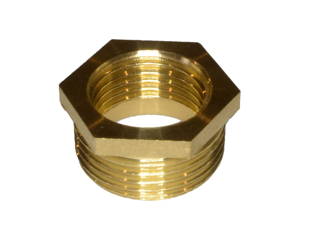 3/4 Inch X 1/2 Inch BSP Brass Hex Reducing Bush