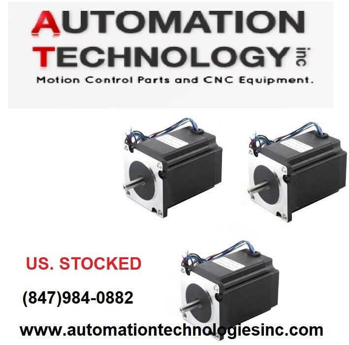 3 pcs nema 23 dual shaft stepper motor 425 oz in ebay