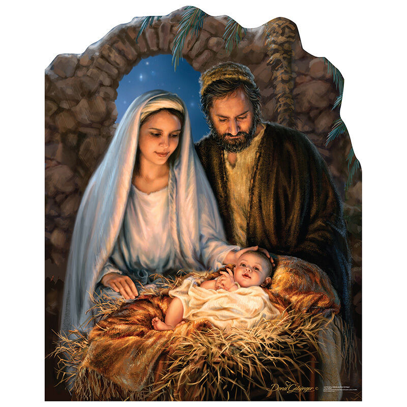 NATIVITY SCENE Christmas Mary Joseph Baby Jesus CARDBOARD ... | 800 x 800 jpeg 148kB