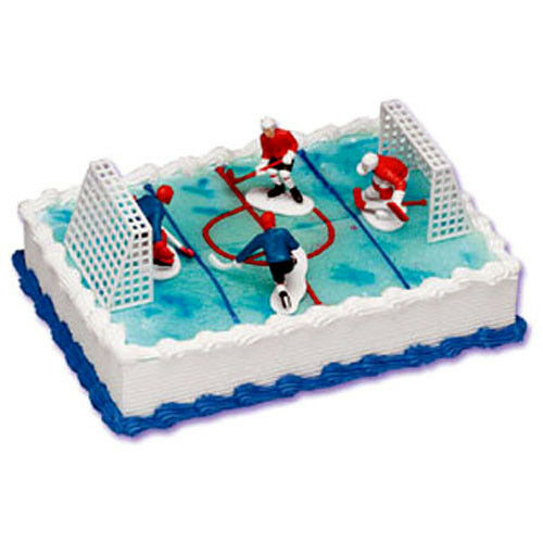 Cake Decor Kit : HOCKEY Cake Decorating Kit BIRTHDAY TOPPER Decorations ...