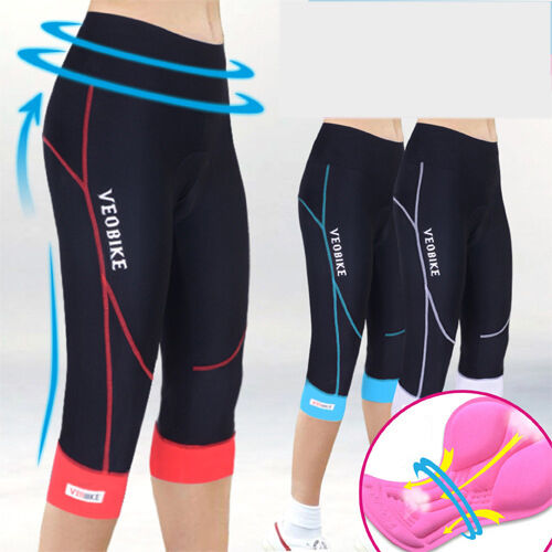 Women Ladies Cycling 3/4 Three Quarter Legging Shorts ...