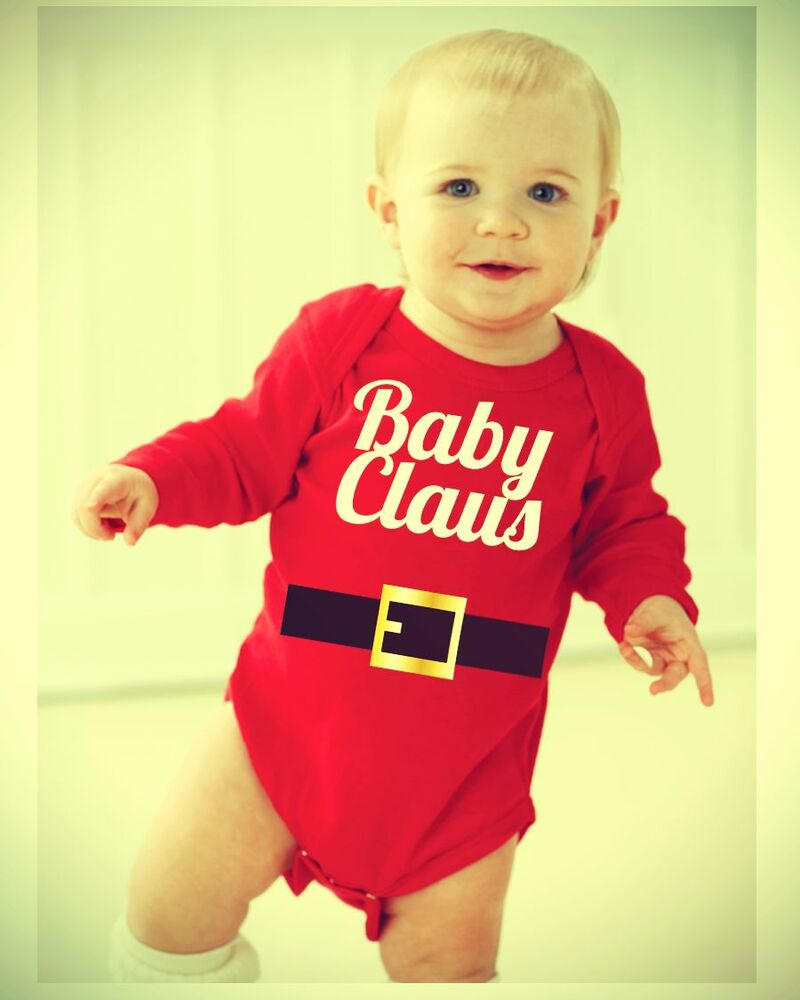 Cute Baby Gifts For Christmas : Christmas baby onesie claus holiday creeper cute
