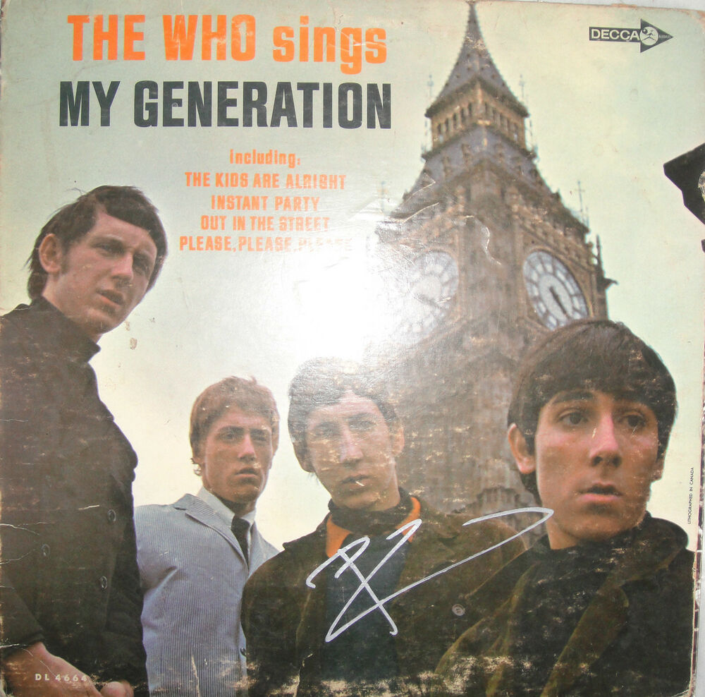 SUPER RARE PETE TOWNSHEND SIGNED THE WHO SINGS MY