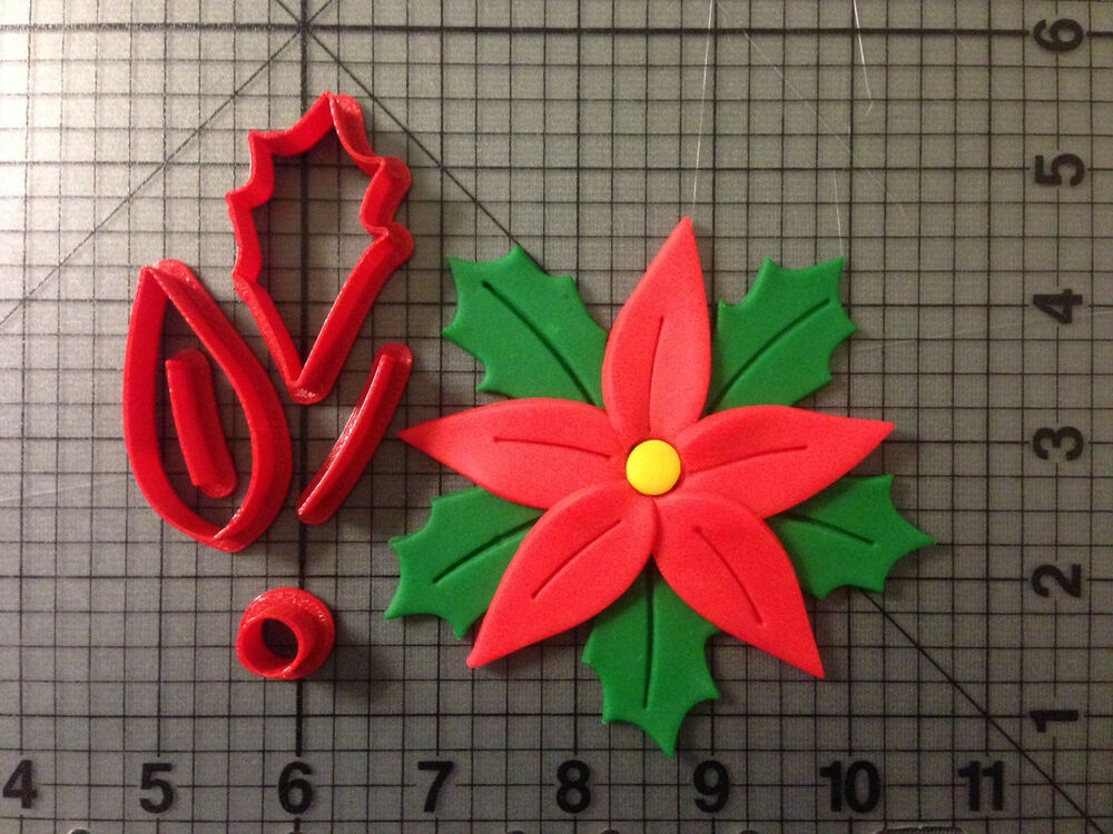 Poinsettia Cookie Cutter Set | eBay