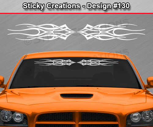 Truck Stickers For Back Window >> Design #130 Tribal Flame Windshield Decal Back Window ...