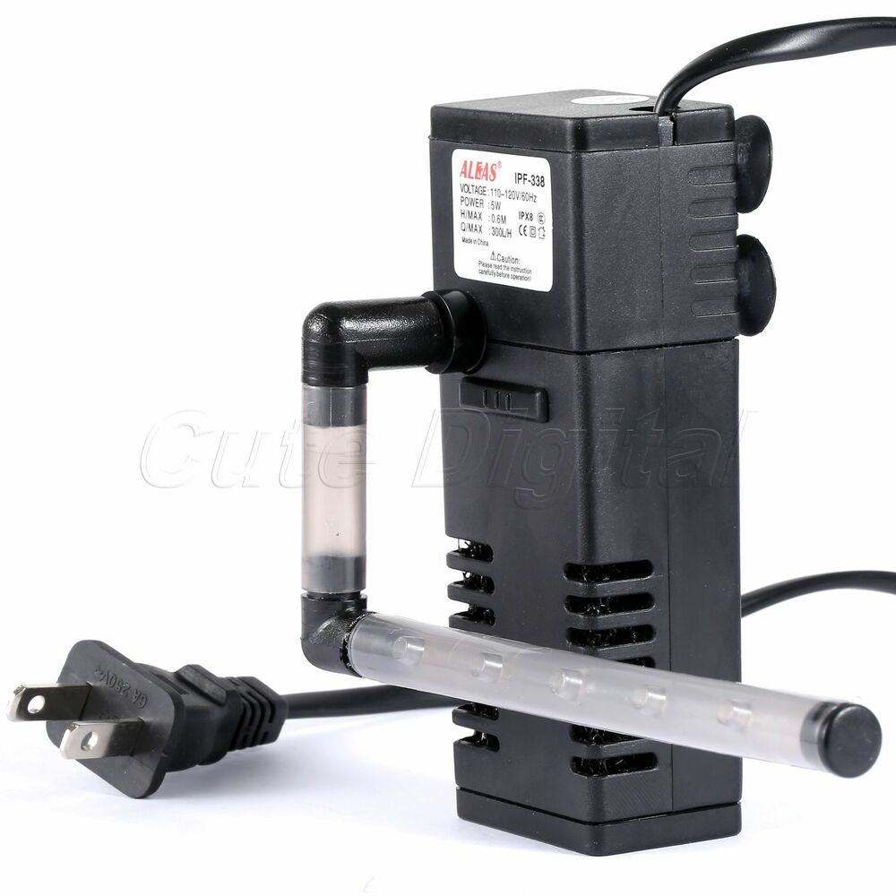 Aquarium pond fish tank built in filter pump submersible for Best rated pond pumps