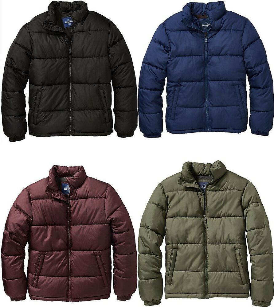 f7526c83720 Details about OLD NAVY Mens Frost Free Puffer Winter Jacket Coat S