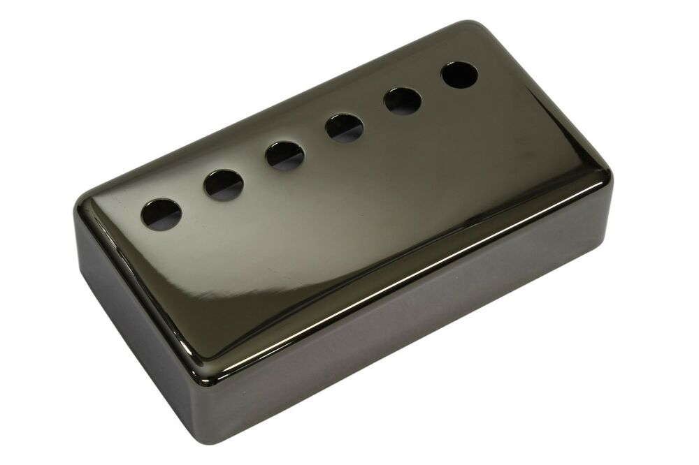humbucker pickup cover smoked black nickel plated nickel silver 50mm ebay. Black Bedroom Furniture Sets. Home Design Ideas