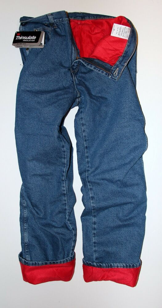 New Wrangler Rugged Wear Thermal Jeans Thinsulate