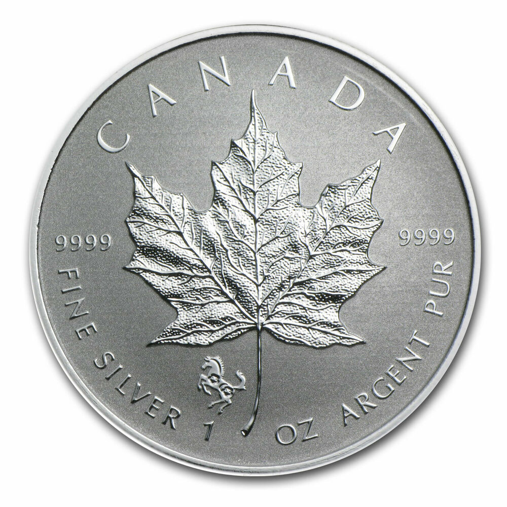 2014 Canada 1 Oz Silver Maple Leaf Lunar Horse Privy Sku