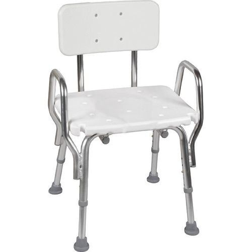 dmi heavy duty bath and shower chair with arms adjustable legs