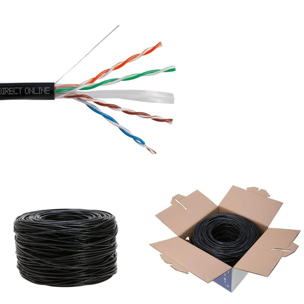 cat6 1000ft outdoor 23 awg 550 mhz cable utp wire solid. Black Bedroom Furniture Sets. Home Design Ideas