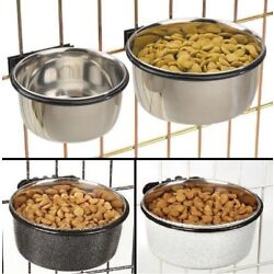 ProSelect Stainless Bowl Dog Cats Birds Food or Water For Pet Cage Coop Cup