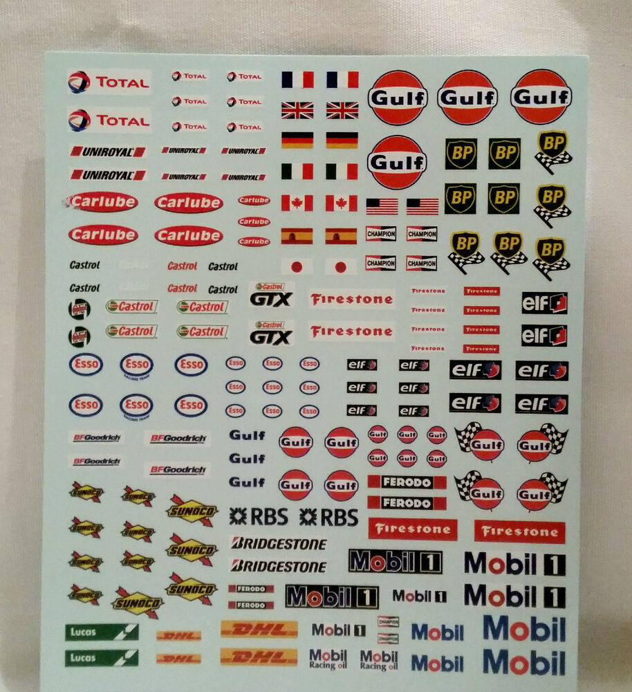 170 1 32 Royale Slot Car Accessories Water Slide Decal Sheet