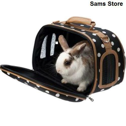 Pet Carrier Small Animals Stylish Travel Rabbits Guinea
