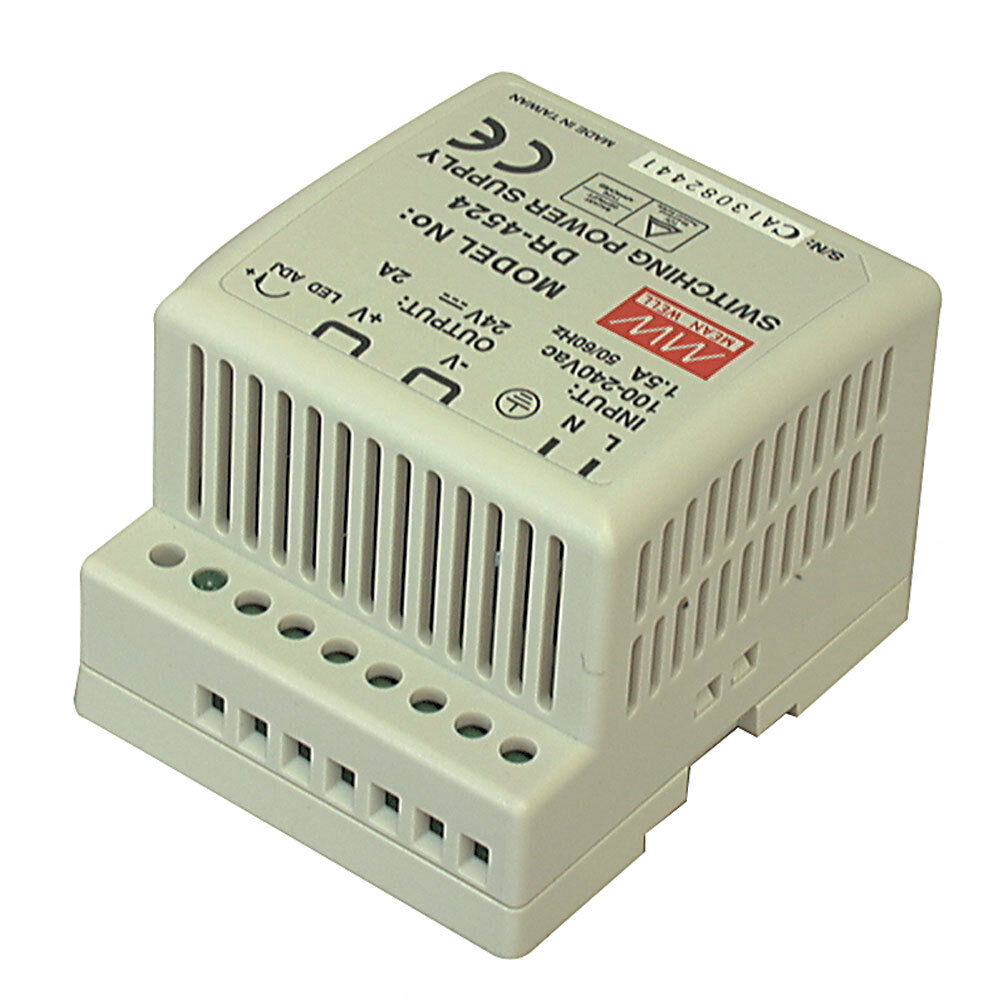 mean well dr 4512 ac to dc din rail power supply 12 volt 3 5 amp 42 watt ebay. Black Bedroom Furniture Sets. Home Design Ideas