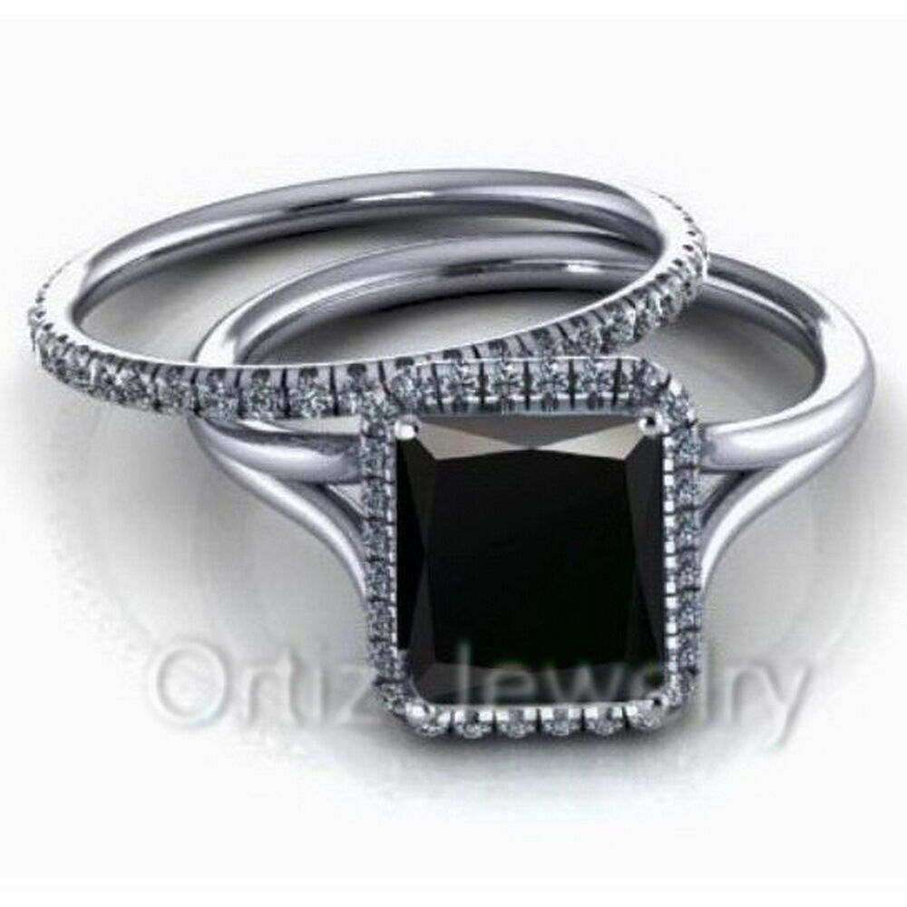 sterling silver wedding ring 925 sterling silver cz black solitaire engagement wedding 7706