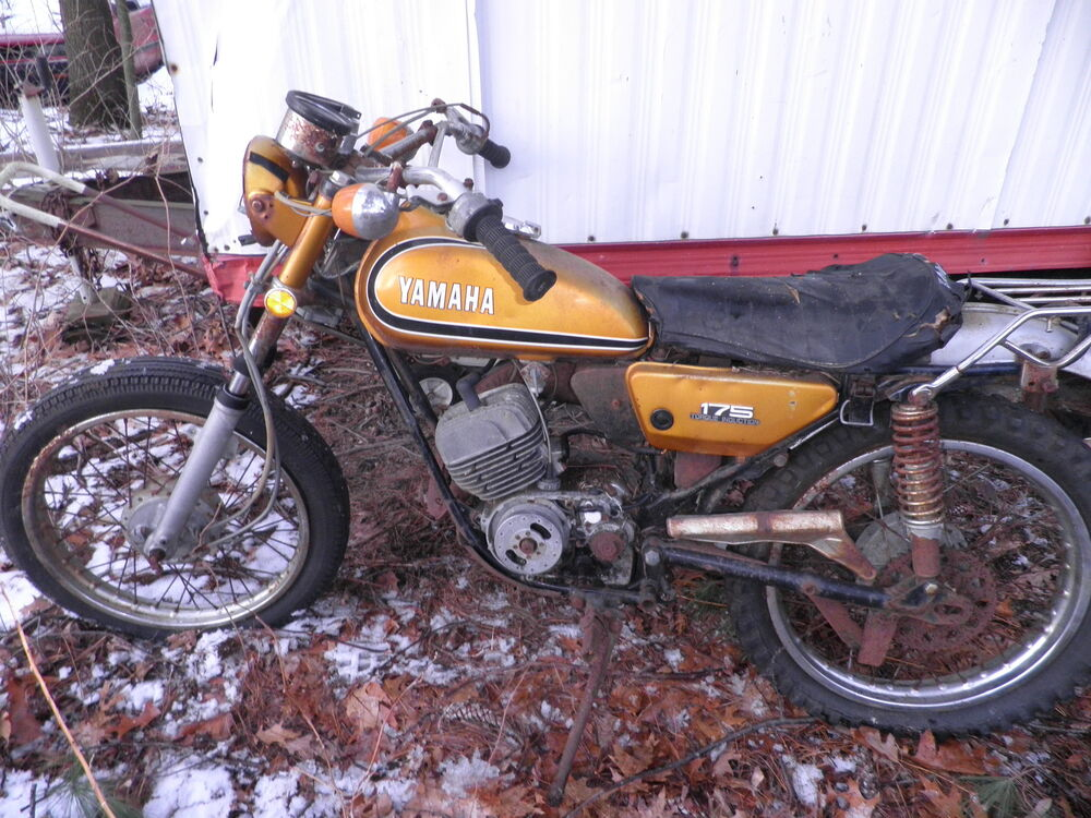 barn find 175 yamaha 175 enduro dual sport 1973 ebay. Black Bedroom Furniture Sets. Home Design Ideas