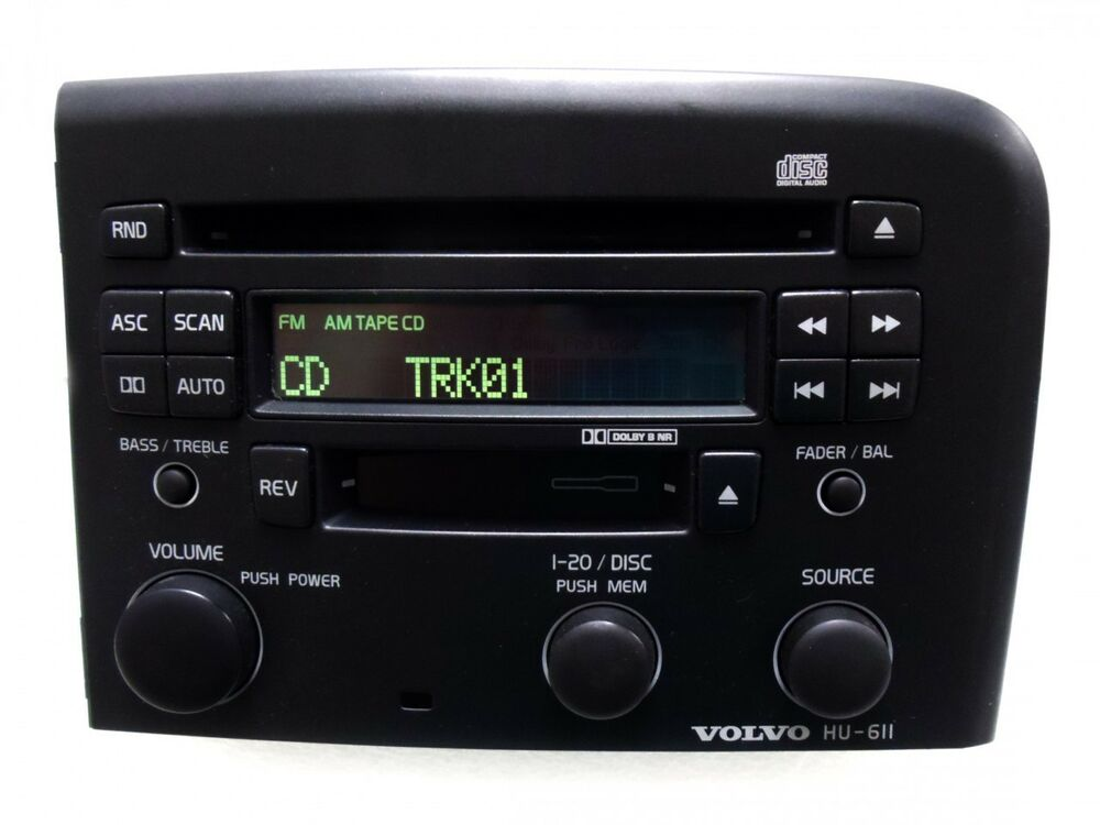 03 04 05 volvo s80 am fm radio stereo cassette tape cd. Black Bedroom Furniture Sets. Home Design Ideas