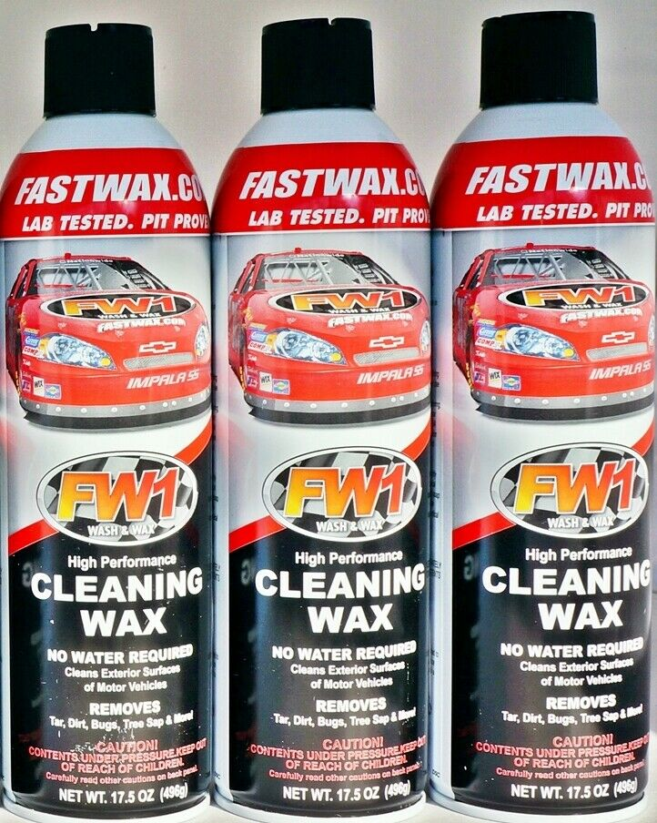 Car Detailing Prices >> Waterless Wash Carnauba & Wax Fastwax FW1 Spray Can Removes Cleans Tar Dirt Bugs | eBay