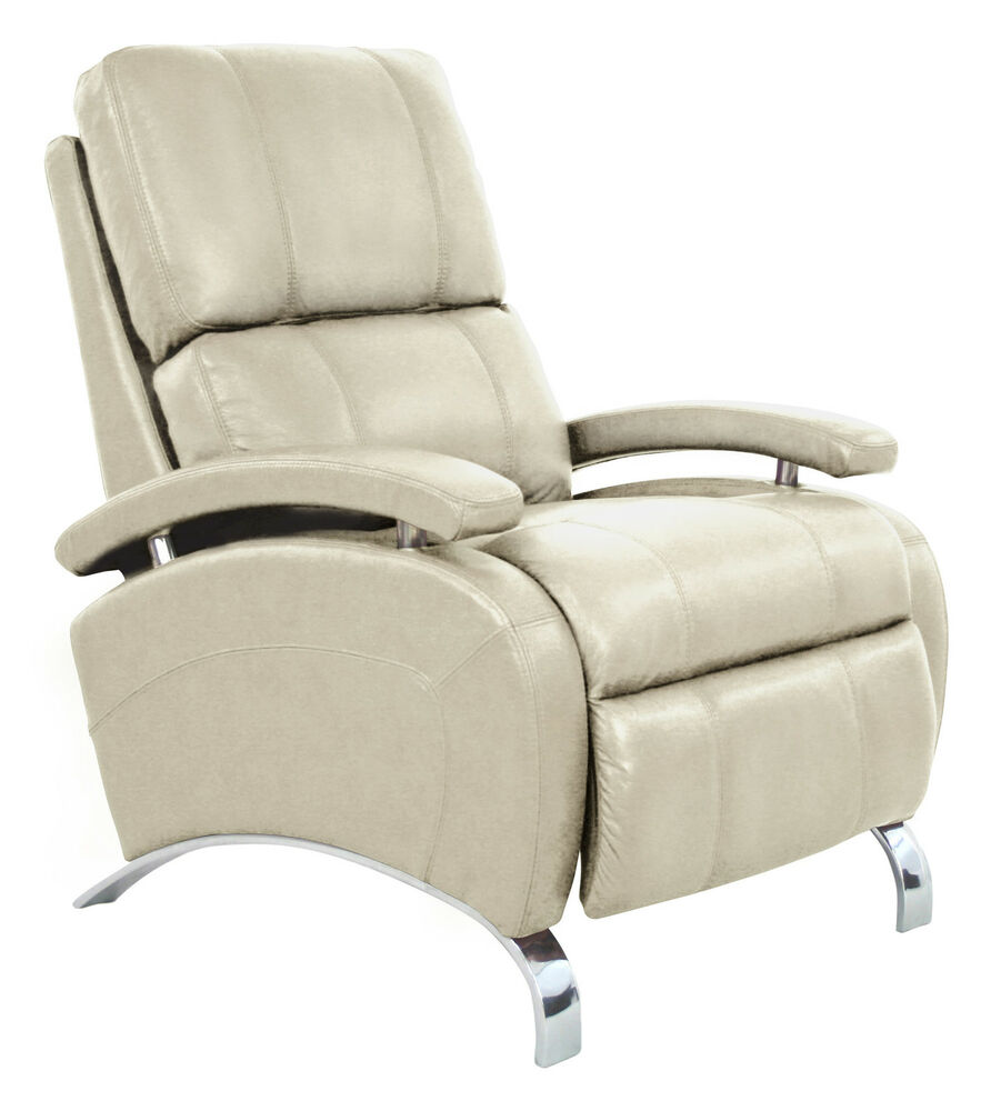 oracle ii manual recline lounger chair cream leather recliner ebay