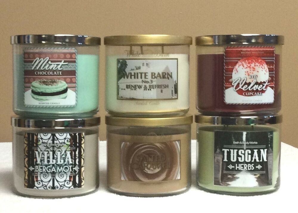 bath and body works 3 wick candles 14 5 oz each you choose ebay. Black Bedroom Furniture Sets. Home Design Ideas