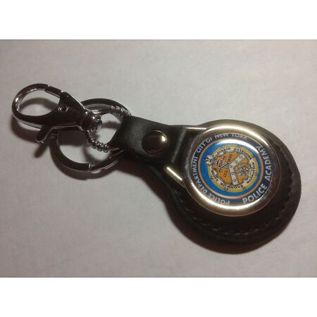 img-POLICE ACADEMY `CITY OF NEW YORK` LEATHER KEY RING WITH BELT CLIP