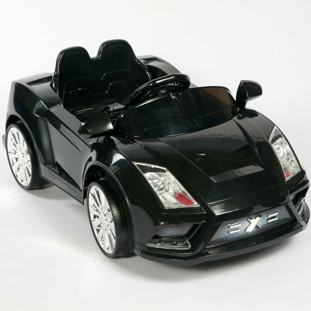 Power Wheels Cars Bentley: Racer X Black 12V Kids Ride On Car Electric Power Wheels