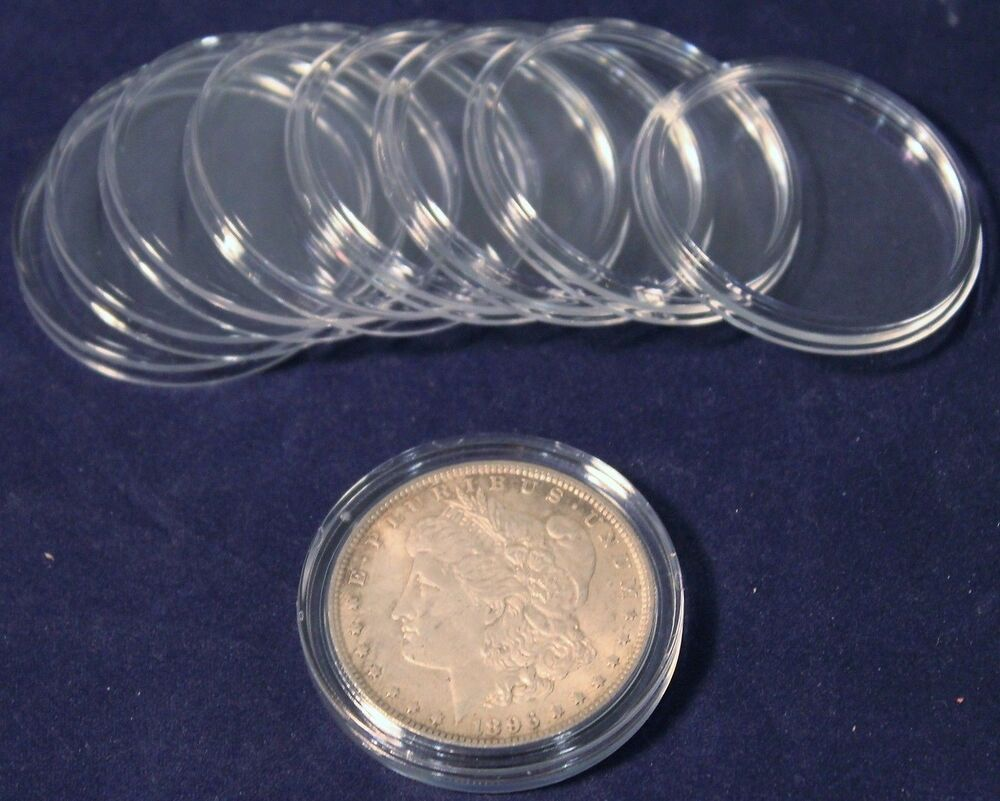 10 Guardhouse 38mm Coin Capsules For Morgan Peace Ike Silver Dollar Ebay
