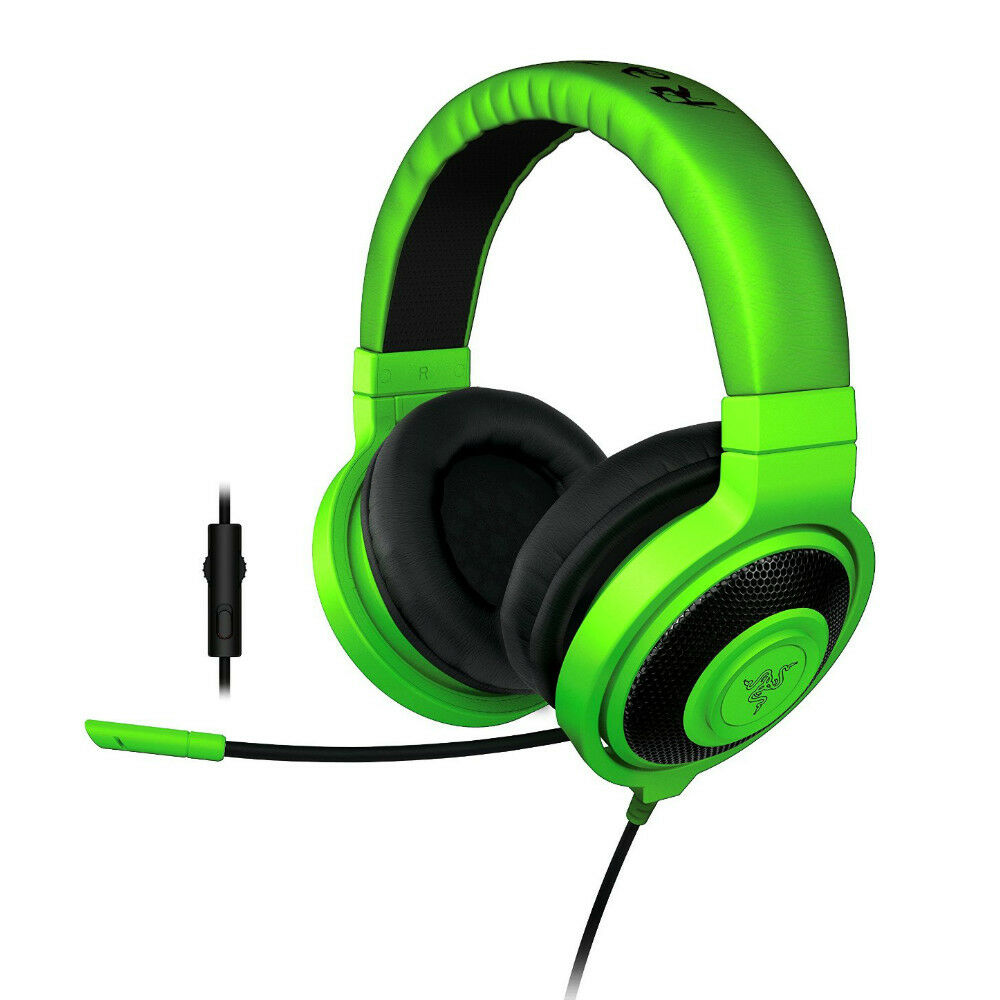 razer kraken pro analog gaming headset in line control for pc ps4 xbox green 879862006099 ebay. Black Bedroom Furniture Sets. Home Design Ideas