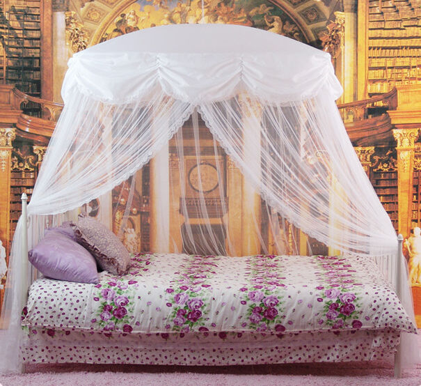 New Mosquito Net Bed Canopy White Princess Bedding Fits