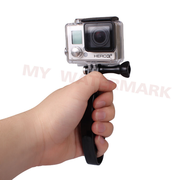 camera handle mount with camera interface for gopro hd hero 4 3 3 2 1 ebay. Black Bedroom Furniture Sets. Home Design Ideas
