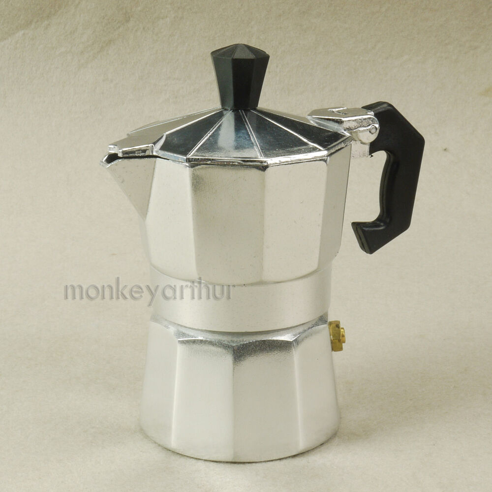 Coffee Maker With Percolator : Percolator Stove Top Coffee Maker Moka Espresso Latte Aluminium Pot 1-3 CUPS eBay