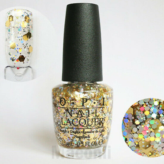 OPI - I Reached My Gold - G38 Gold & Holographic Silver ...