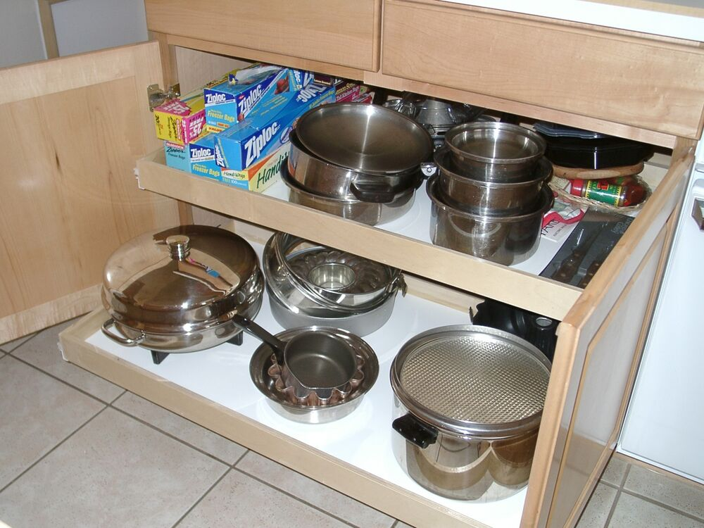 Pull out shelves that slide 35 x 18 cabinet sliding for Sliding drawers for kitchen cabinets