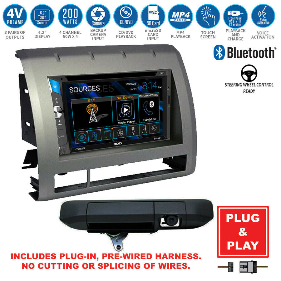 double din bluetooth usb stereo+backup latch camera+toyota ... toyota radio wiring harness diagram of car stereo