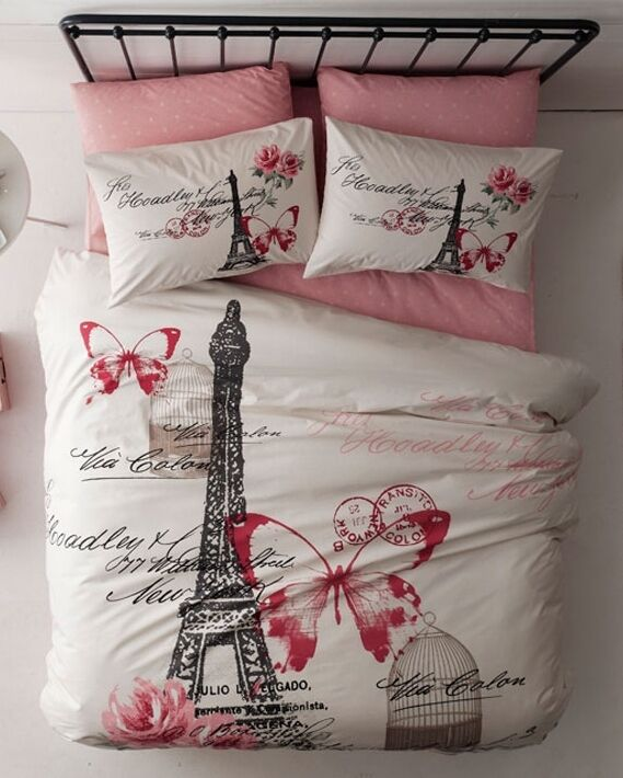 100 Cotton High Quality 3pcs Twin Single Paris New York