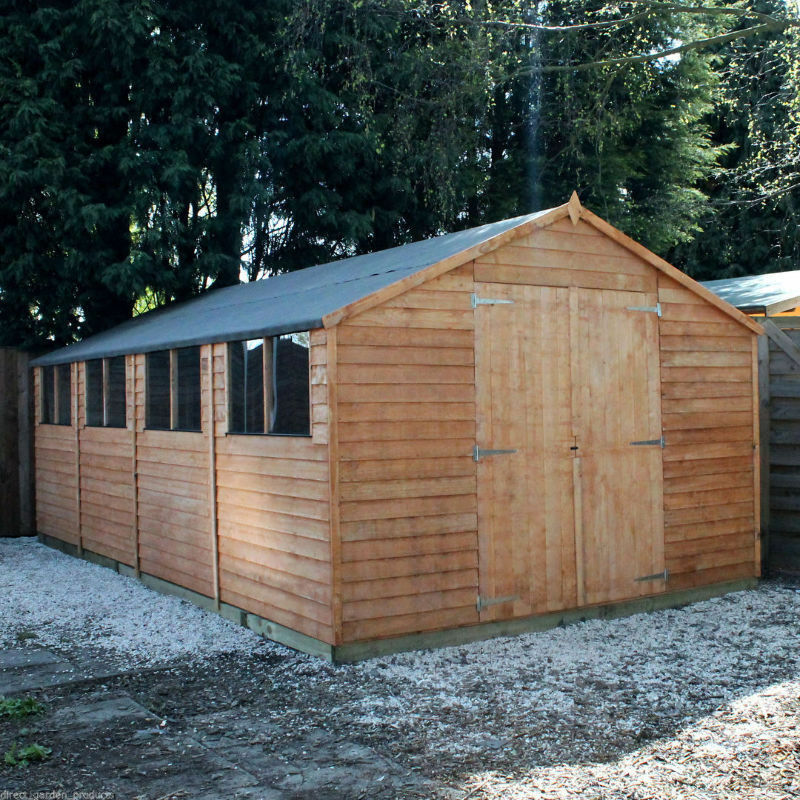 Wooden workshop shed garden sheds 20ft x 10ft work shop for Outdoor wood shed