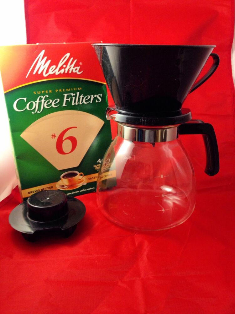 Kitchen Appliances List >> Melitta Coffee Perfection Pour Over Coffee Maker 6 cup 40 filters included | eBay