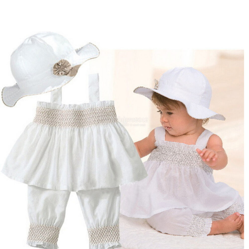 White Baby Girl Clothes 0 3 6 9 12 18 24 Months White