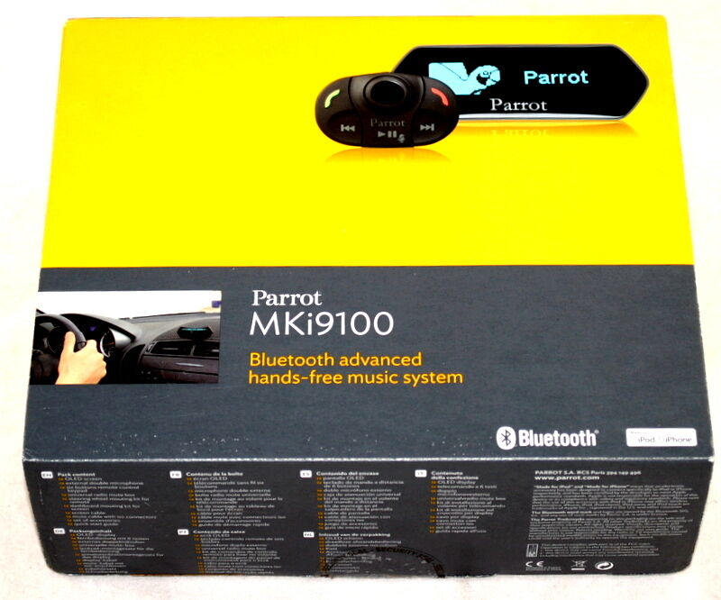 parrot mki9100 bluetooth hands free car kit usb aux ipod iphone 71806339 ebay. Black Bedroom Furniture Sets. Home Design Ideas