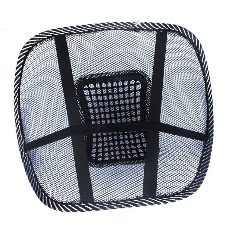 NEW COOLING AIR MESH BACK REST MASSAGE PAD LUMBAR SUPPORT OFFICE CHAIR CAR SE