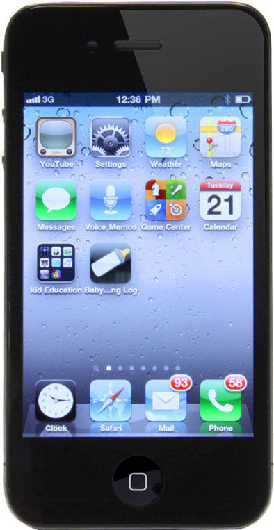 iphone 4 unlocked for sale apple iphone 4 16gb black unlocked smartphone 2833