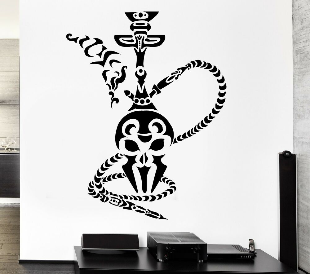 shisha wall stickers hookah smoke smoking arabic cafe vinyl decal ig2485 ebay. Black Bedroom Furniture Sets. Home Design Ideas
