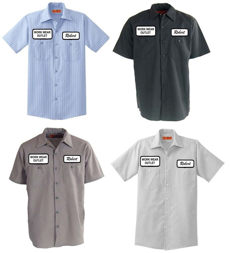 12 work uniform shirts custom print your company name logo