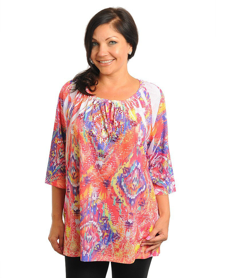 Womens White Tunic Blouse