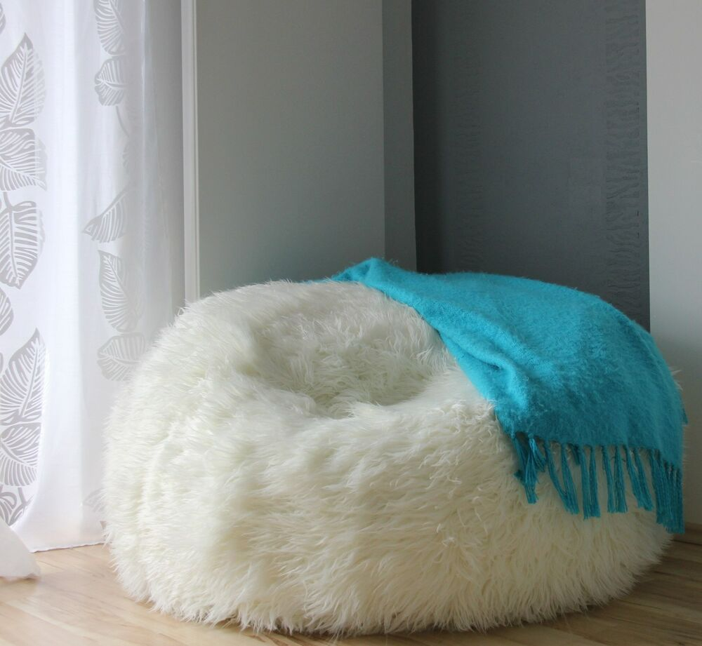 Large 216 110 Cm Soft Alpaca Faux Fur Bean Bag Cloud Chairs